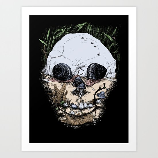 a slow and natural death Art Print