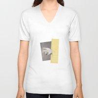 cigarettes V-neck T-shirts featuring Cigarettes & Cigarettes by Julien Ulvoas