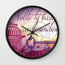Don't let the bastards get you down Wall Clock