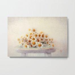 daisies on a stool Metal Print