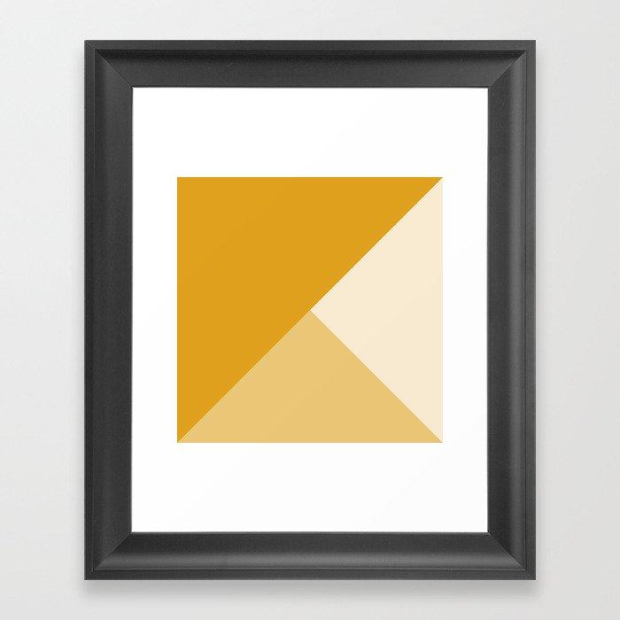 Mustard Tones Gerahmter Kunstdruck