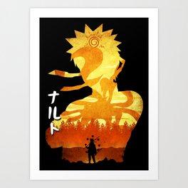 Minimalist Silhouette Hero Art Print