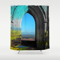 portal Shower Curtains featuring Portal by Tobias Bowman