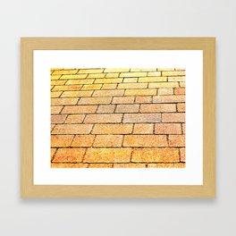Yellow brick road Framed Art Print