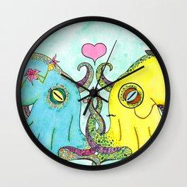 Octopus Wedding Wall Clock
