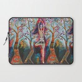 Roots, Dia De Los Muertos Yoga Tree Pose Laptop Sleeve