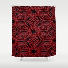Black and red geometric diamonds 4999 Shower Curtain