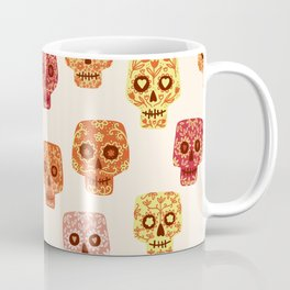 Dia de los Muertos Mexican Decorated Skull Art Coffee Mug