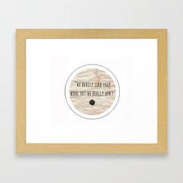but Framed Art Print