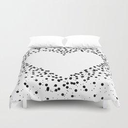 Heart in Dots Duvet Cover