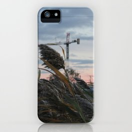sunset jog iPhone Case