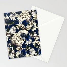 night and day flowers butterflies pattern dark foggy Stationery Cards