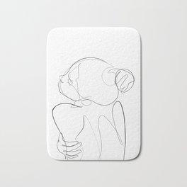 line art woman nude back Bath Mat