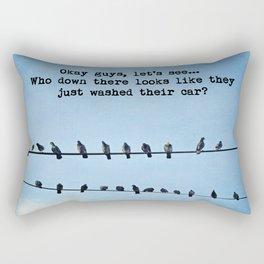 When Pigeons Plan... Rectangular Pillow