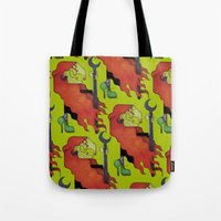 witch Tote Bags featuring Witch by Iribú