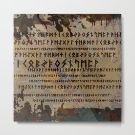 Runic alphabet Metal Print