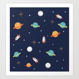 Space Pattern Art Print
