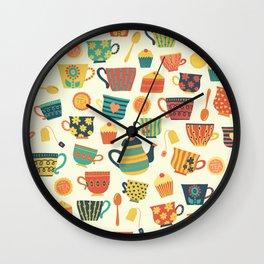 Tea Time Pattern - Sweet Treats Wall Clock