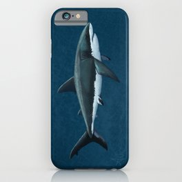 """Carcharodon carcharias"" by Amber Marine  ~ Great White Shark Art, (Copyright 2015) iPhone Case"