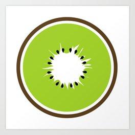Slice of Kiwi Art Print