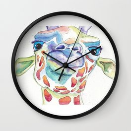 Giraffe Face Wall Clock