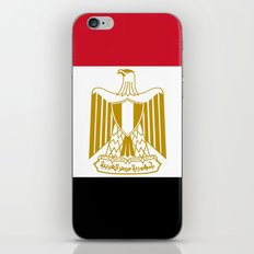 National flag of Egypt, Authentic version in scale and color (High Quality) iPhone & iPod Skin