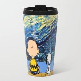 Snoopy Starry night Travel Mug