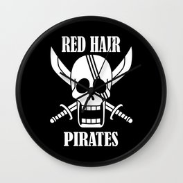 Red hair pirates Wall Clock