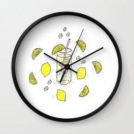 Lemon Lemon Lemon Wall Clock