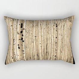 Aspen Tree Maze / Sepia Rectangular Pillow