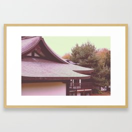 Japanese Peace Building Framed Art Print