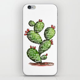 Psalm 63 watercoulor cactus bible verse iPhone Skin
