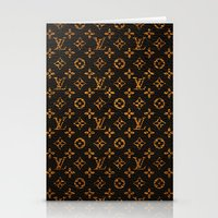 lv Stationery Cards featuring LV Pattern by Veylow