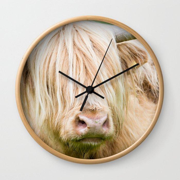 Scruffy Cow Wall Clock