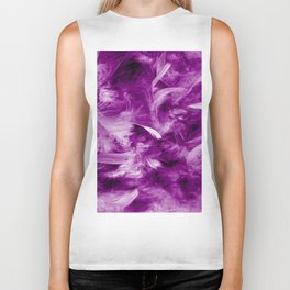 Colorful Feathers Biker Tank