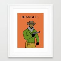 django Framed Art Prints featuring DJANGO by Jason Cooper