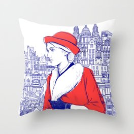 Clarissa Dalloway - Virginia Woolf Throw Pillow
