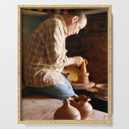 Potter working Serving Tray
