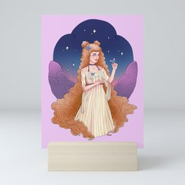 Virgo Zodiac Sign - Ginger Mini Art Print