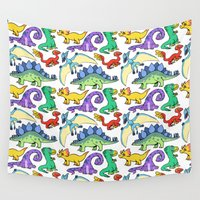 dinosaurs Wall Tapestries featuring Dinosaurs!!!! by Morgan