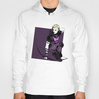 clint barton Hoodies featuring Clint Barton by The Radioactive Peach