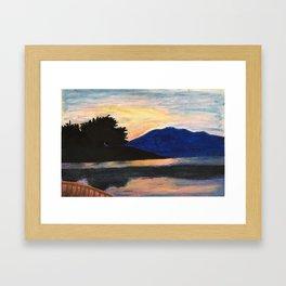 Canoeing at Sunset Framed Art Print
