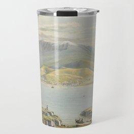 Hobart Town by Eu von Guerard Date 1867  Romanticism Series Australian Landscapes  Landscape Travel Mug