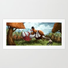 Chicken Dancing Art Print