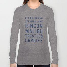 California Surf Spots 1 Long Sleeve T-shirt