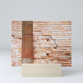 186. Brick Wall, Rome Mini Art Print
