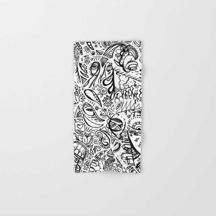 For The Birds Marker Doodle Hand Amp Bath Towel By