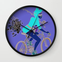 Jessica's Halloween Party Wall Clock