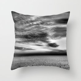 Sharm Sunrise BW Throw Pillow