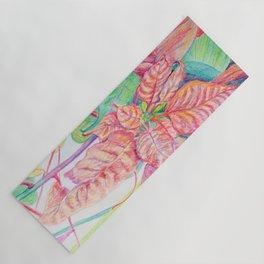 Poinsettia Yoga Mat